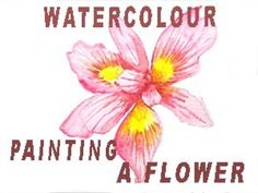 In this video I am going to demonstrate how I paint a flower and share painting tips and the colours that I use. My name is Angela Duffield-Warren and I am a. Painting Tips, Watercolour Painting, My Books, My Arts, Colours, Illustration, Artwork, Artist, Flowers