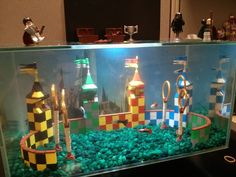 Amazing Harry Potter fish tank  Quidditch style⚡️
