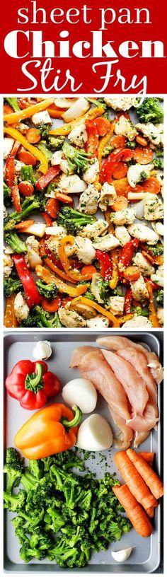 Sheet Pan Chicken Stir Fry Recipe - Diethood
