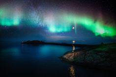 Northern lights in Norway / Nordlicht in Norwegen, Polarlicht, Aurora borealis