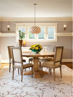 Casual Transitional Dining Room by Garrison Hullinger