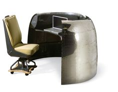 DC-6 Cowling Desk  In a previous life, this DC-6 cowling housed Pratt  engines.