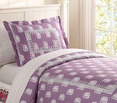 Julianna Duvet Cover #PotteryBarnKids - the princess may have her purple bedroom