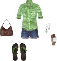 """""""Summer Green"""" by mrscosentino ❤ liked on Polyvore"""