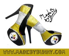 Pittsburgh Steelers NFL Football Sexy Glitter Sports Heels with Crystal Rhinestones - Custom Stiletto / Pumps / Shoes Steelers Gear, Here We Go Steelers, Pittsburgh Steelers Football, Football Baby, Football Team, Steelers Stuff, Steelers Apparel, Dodgers, Steeler Nation