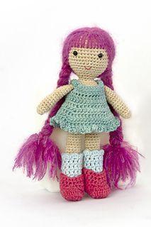 The Emma doll Free amigurumi doll pattern downloadable through Ravelry.