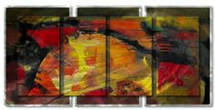 AllMyWalls SWL00074 Contemporary Painting on Metal Wall Sculptures . $1552.00. Save 23% Off!