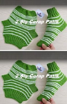 2 skewer socks booties - 2 skewer socks booties, You are in the right place about anello Here we offe - Baby Knitting Patterns, Knitting For Kids, Knitting Socks, Free Knitting, Crochet Patterns, Knitted Booties, Knitted Slippers, Baby Boy Booties, Wool Yarn