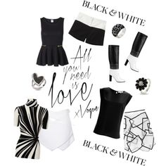 Life in Black & White by noconfessions, via Polyvore
