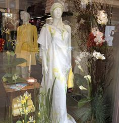 Stunning Yves Delorme window for Chelsea Flower Show
