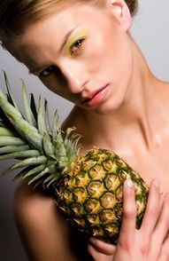 I always do my make up and then hold a pineapple.