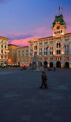 Piazza dell'Unità d'Italia, Trieste, Italy--great grandma came to America from this port of departure...would love to see it.