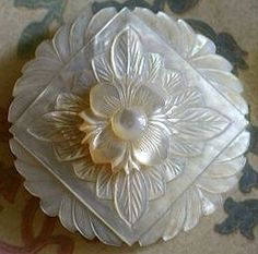 Multi Layered Carved MOP Button