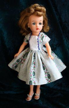 Original Little Miss Revlon Ideal Floral Cameo Dress  # 9132 - Very Nice condition