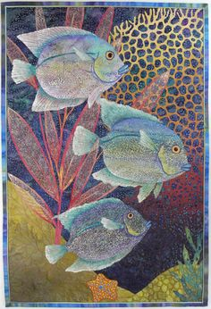 """Angels With Scales, 32x22"""" betty busby--fine art in fiber"""