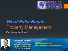According to the latest from the U.S. Census Bureau, renters comprise about 35% of all households. That's a pretty healthy portion of the nation's population —  and a pretty encouraging market-share statistic for investors considering West Palm Beach properties capable of generating income. Check this out:http://www.christianpenner.com/west-palm-beach-property-management-puts-you-on-the-board/