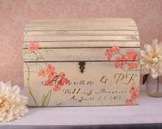 Wedding Card Box  Rustic Memory Box with by TrueVineTreasures, $130.37