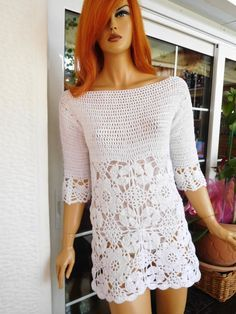 MADE TO ORDER beautiful dress in white cotton mini sexy romantic summer holidays flattering off shoulder with slit by golden yarn