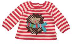 Frugi Baby Hedgehog Top Long Sleeve T-Shirt - Raspberry Stripe Baby Hedgehog, Winter Wardrobe, Hope Chest, Preppy, Christmas Sweaters, Little Girls, Baby Kids, Girl Outfits, Long Sleeve