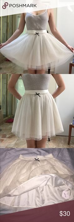 Kawaii tulle ribbon skirt Super poofy cute skirt from Ank Rouge (a Japanese fashion store). Never worn, NWT! It is sz M in japan but I would recommend this for waist sz 25 or size 00-02. ank rouge Skirts Circle & Skater
