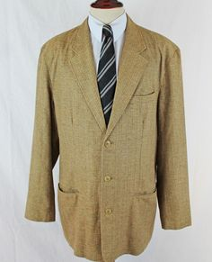 THE TERRITORY AHEAD Blazer Sport Coat size XLL Long 100% SIlk 3 Button MINT #TheTerritoryAhead #ThreeButton