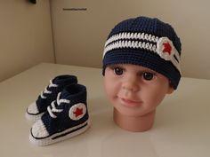 13191aa273d01 crochet chaussures converse pour votre bébé crochet chaussures converse pour  votre bébé ...