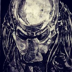 #inktober2016 #inktober #sketchbook #sumiink #predator #fanart #movies #horrormovie #monster