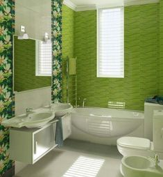 Tiny house bathroom - Looking for small bathroom ideas? Take a look at our pick of the best small bathroom design ideas to inspire you before you start redecorating. Green Bathrooms Designs, Modern Small Bathrooms, Bathroom Tile Designs, Bathroom Interior Design, Bathroom Ideas, Bathroom Vanities, Green Bathroom Paint, Green Bathroom Colors, White Bathroom