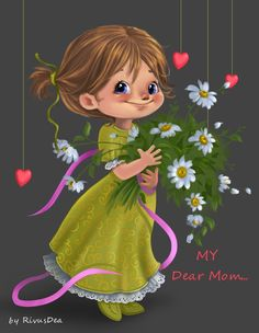 Mom's Day cards/character design on Behance