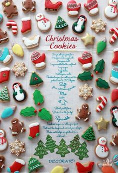 Mini-Christmas-Cookies-Sweetopia-cookie decorating tips Christmas Biscuits, Christmas Sugar Cookies, Christmas Sweets, Christmas Cooking, Christmas Minis, Christmas Goodies, Holiday Cookies, Holiday Treats, Christmas Recipes