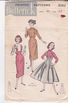 Uncut Vintage Butterick Sewing Pattern 8262 High by Ziatacraft