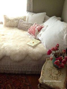 sheep skin, oriental rug