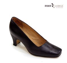 Foot Lodge Mid-heel Leather Court Shoe for Women. Code: 74
