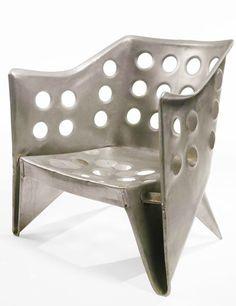 Gerrit Rietveld, Aluminium Chair, 1942.