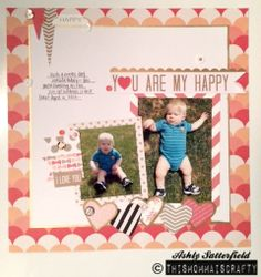 A scrapbook layout I made with You Are My Happy collection by @Teresa Collins #teresacollins #youaremyhappy #scrapbooklayouts #scrapbooklayout