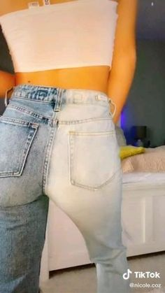 Tie Dye Jeans, Bleached Jeans, Bleach Tie Dye, Tie Dye Outfits, Painted Clothes, Diy Jeans, Clothing Hacks, Aesthetic Clothes, Custom Clothes