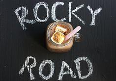 rocky road, two ways (milkshake + cookies) by a cozy kitchen