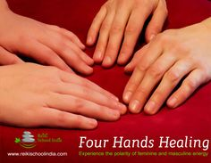#Four_Hand_ Healing establish harmony and balance in our emotions and energy bodies by applied energies from the male and female healer. A treatment is a powerful experience, .to know more click on https://reikischoolindia.com #reiki_in_india #healing_in_india #reiki_school_in_india