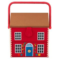 House Sewing Basket   Removable tray Pull out drawer Built in pin cushion 26 x 29 x 28 cm Wipe Clean Only Cotton/ Polyester   CathKidston