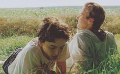 A still of Timothée and Armie in Call Me By Your Name (2017)
