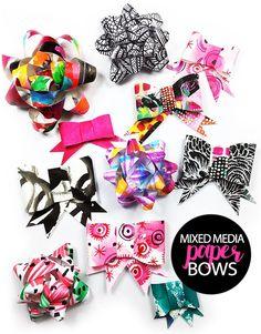 mixed media paper bows