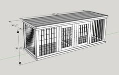 SAVE HUNDREDS of Dollars by using our easy to follow plans to build your own custom wooden Doggie Den. Mans best friend deserves the best. They deserve better than an ugly wire dog crate. Wooden Custom Dog Kennels are beautiful and add style to your home. Fluffy will no longer have to