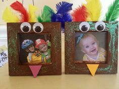 Thanksgiving Preschool Craft : Turkey Frame by ophelia