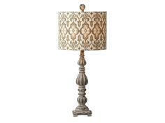 Distressed Ikat Table Lamp