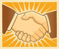 Handshake illustration vector art downloads