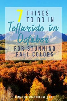 """Telluride is seriously one of the most gorgeous towns on Earth and when the fall colors of October arrive, the beauty only multiplies as aspen""""s scatter across the mountainsides and valleys. Check these awesome things to do in October deep in the San Juans. #telluride #colorado #fall #viaferrata"""