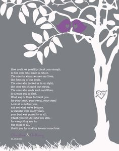 Personalized Family Tree - Custom Art Print - Wedding Gift for Parents - Thank you to Parents