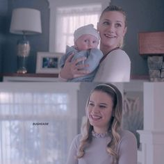 Betty holding Polly's lil baby! So cute!