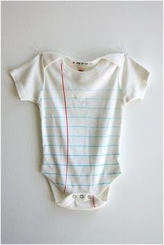 Notebook onesie - umm my unnatural love of college ruled paper days I MUsT have this!