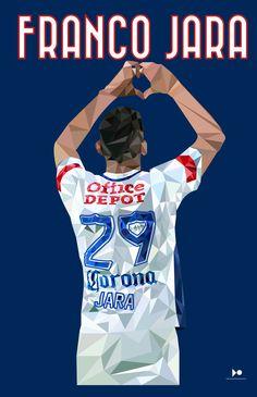 Franco Jara Fútbol Tuzos del Pachuca Fútbol Mexicano Pachuca LowPoly
